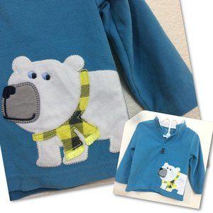 4/$25 🛍 Carters 18M Fleece Pullover Polar Bear